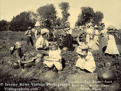 JRowe  Print_Messinger_Watermelon_Harvest_Brusheur_Ranch_1901_1A SM CR 500x376px
