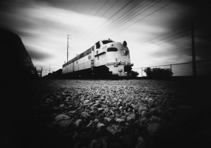 """Image was captured at the Arizona Railway Museum"".  ""I used 5x7 pinhole @ F-325 for 2.5 minutes to capture this image."" Copyright 2015 C. Burns All rights reserved."