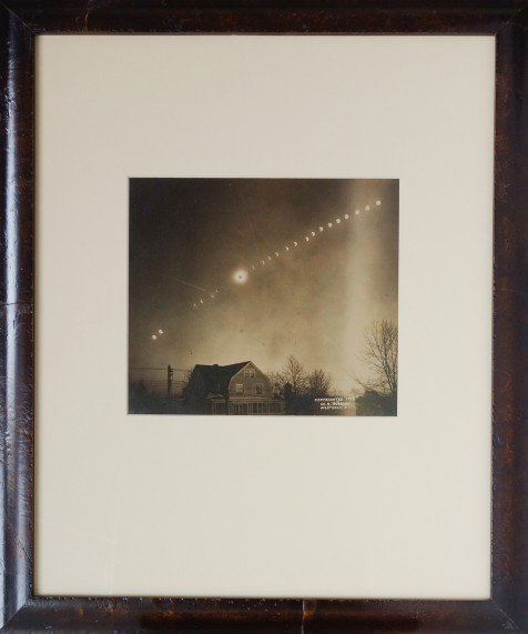 "Edward Burdick ""Total Eclipse of the Sun"" Gelatin Silver Print 7 x 8 in 1925"